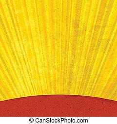 Los rayos solares son viejos. Vector, EPS10