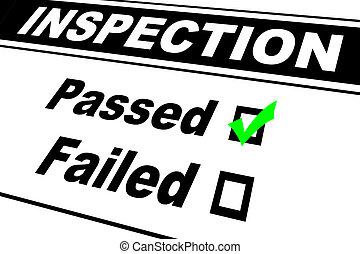 Los resultados de la inspección pasaron