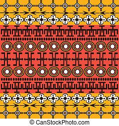 Los símbolos étnicos africanos de fondo