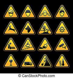 Los símbolos de advertencia se establecen.
