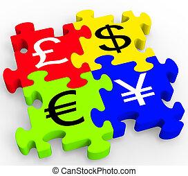 Los símbolos de la moneda muestran un forex