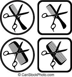 Los símbolos de la peluquería