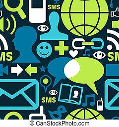 Los símbolos de la red de medios sociales