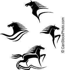Los símbolos de los caballos negros