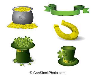 Los símbolos del día de San Patrick