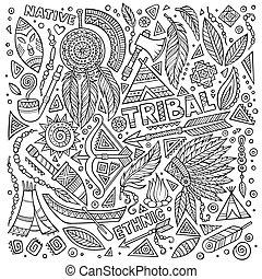 Los símbolos nativos tribales
