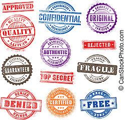 Los sellos comerciales de Grunge ponen 2