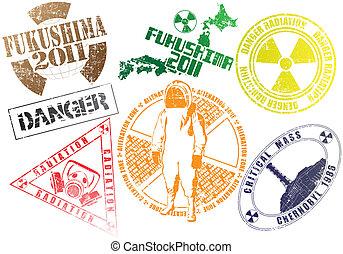 Los sellos radiactivos son un conjunto