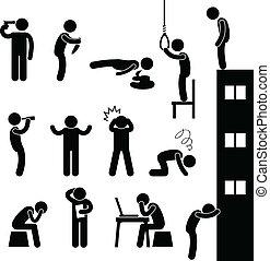 Los suicidas matan a los depresivos