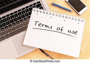 Los términos de uso