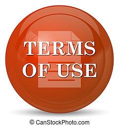 Los términos del icono de uso