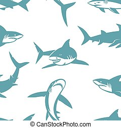 Los tiburones siluetas sin marcas.
