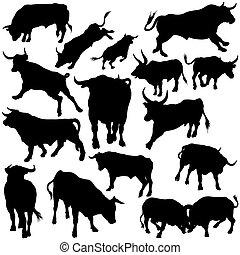 Los toros ponen siluetas