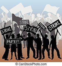 Los trabajadores atacan y protestan
