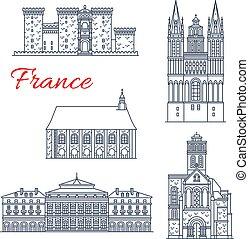 Los vectores de arquitectura francesa de Angers