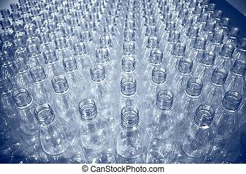 lotes, botellas, plástico