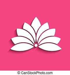 Loto flor logo. Concepto de espiritualidad, paz, relajación. Diseño gráfico Vector
