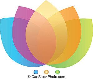 loto, logotipo, flor, diseño