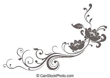 loto, patrón, flor