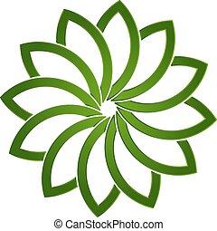 Loto verde logotipo de planta