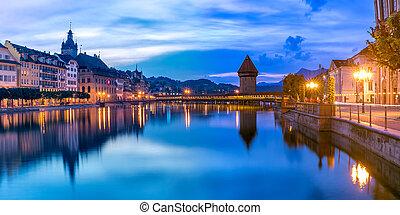 Lucerne al amanecer, Suiza