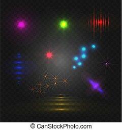 Luces abstractas, elementos brillantes VECTOR