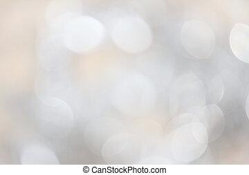 luces, bokeh, plata