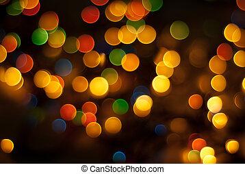 Luces coloridas de Navidad