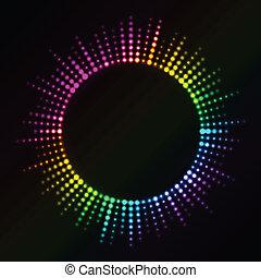 Luces coloridas del vector