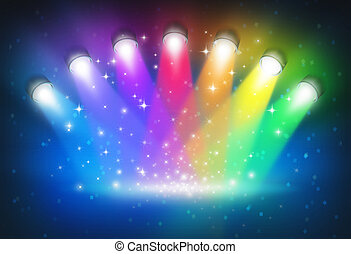 Luces con colores del arco iris