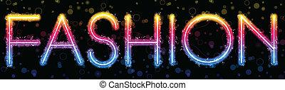 Luces de arco iris de moda brillan con chispas