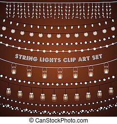 Luces de cuerda rústicas listas