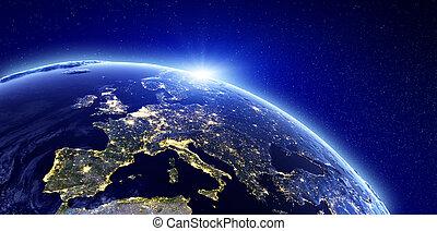 Luces de la ciudad, Europa