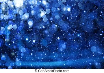 Luces de Navidad de arte en el fondo azul