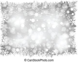 Luces de Navidad plateadas
