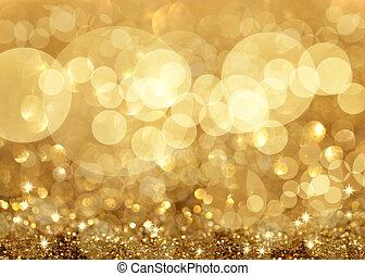 Luces de Twinkley y estrellas de fondo navideño