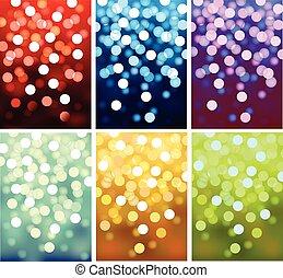 luces, defocused, vector