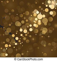 Luces mágicas, brillo de fondo