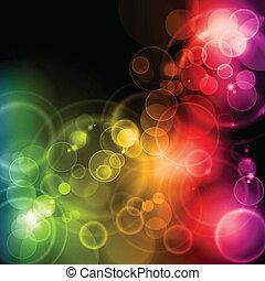 Luces mágicas coloridas