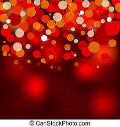 luces, navidad, rojo