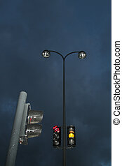luces, noche, tráfico