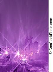 Luces púrpura