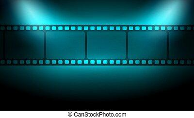 luces, tira, foco, película, plano de fondo
