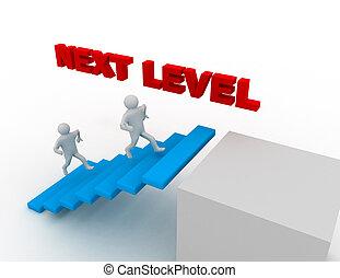 luego, concepto, nivel