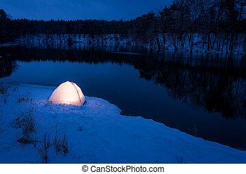 Lugar extremo para dormir en invierno
