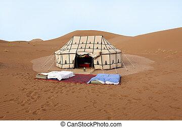 Lugar para dormir en el desierto