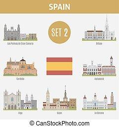 Lugares famosos con ciudades. Set 2