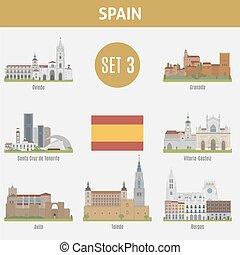 Lugares famosos con ciudades. Set 3