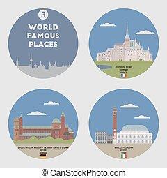 Lugares famosos. Set 3
