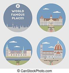 Lugares famosos. Set 4